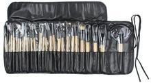 TOP Professional 24 pcs Makeup Brush Set tools Make-up Toiletry Kit Wool Brand Make Up Brush Set Case free shipping