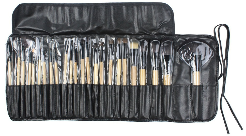 TOP Professional 24pcs Makeup Brush Set Tools Make-up Toiletry Kit Wool Brand Make Up Brush Set Case Drop Shipping все цены