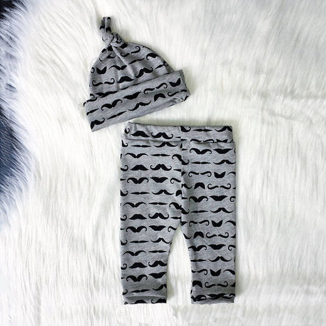 "3 Pieces Baby Boy Letter ""Little Man"" Bodysuit with Pant and Hat Set"