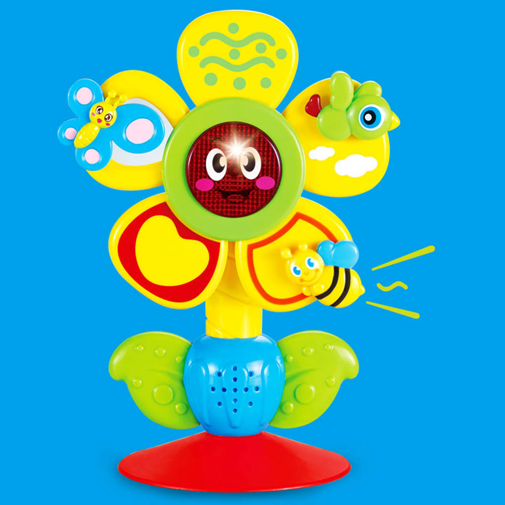 Baby Toy Sun Flower Ferris Wheel Rattle Toy Stroller Dining Chair With Suction Cups Educational Toys For Babies