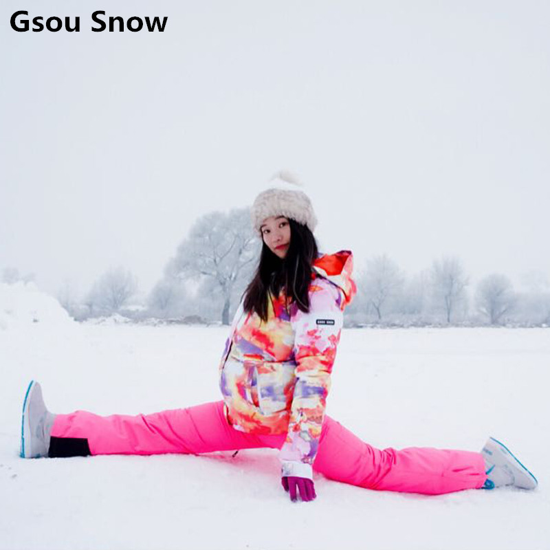 gsou snow colorful ski jackets and pants snowboard jacket women veste ski femme de chaquetas. Black Bedroom Furniture Sets. Home Design Ideas
