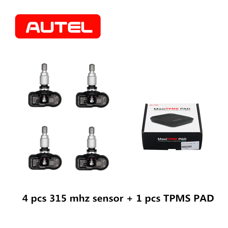 AUTEL MX-Sensor 2 in 1 433 315 Mhz TPMS PAD Tire Pressure Monitoring Universal Automotive
