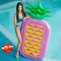 Rooxin Giant Inflatable Swimming Circle Pool Float Pineapple Swimming Ring Row Tube Air Mattress Water Hammock Summer Party Toys