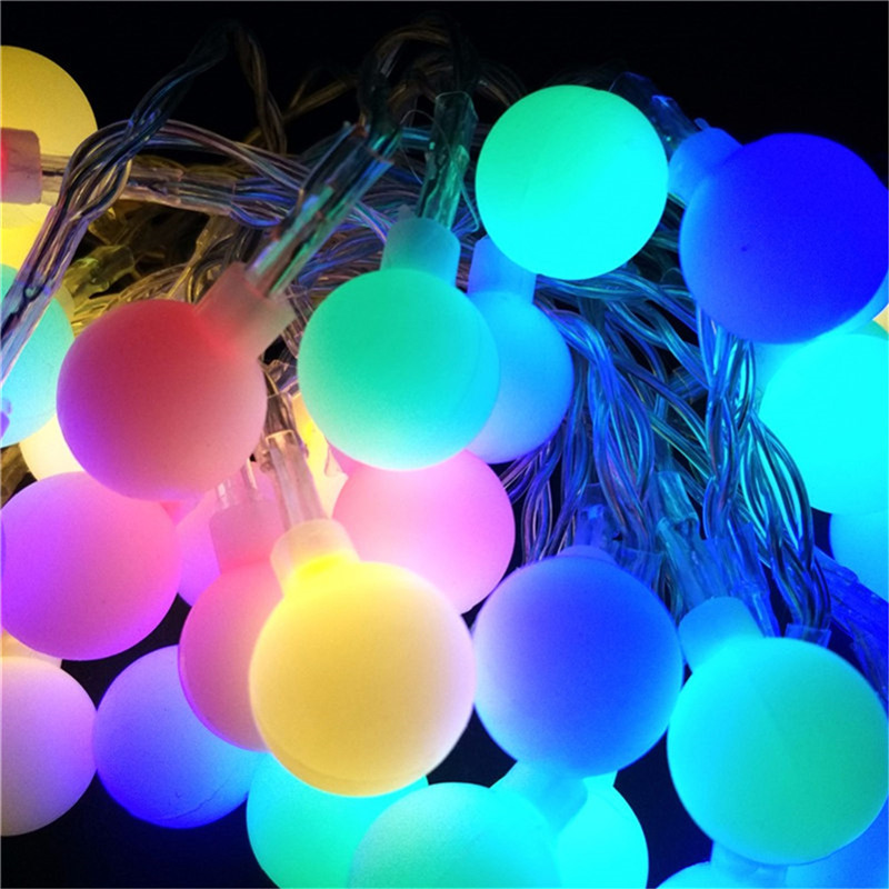 10M 100LEDS Holiday LED String Light 110 220V Ball Led String Light Outdoor Wedding Party Decoration