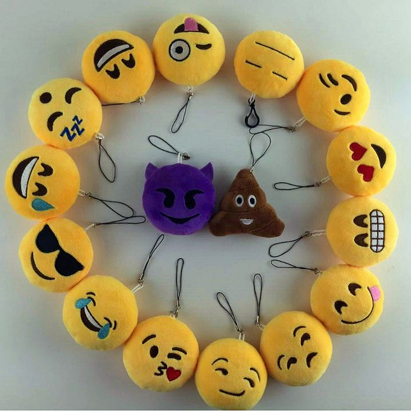 LNRRABC Fashion Cute Emoji Emoticon Smiley Face Keychain Pendant Key Chain Holder Keyring Soft Toy For Women Men