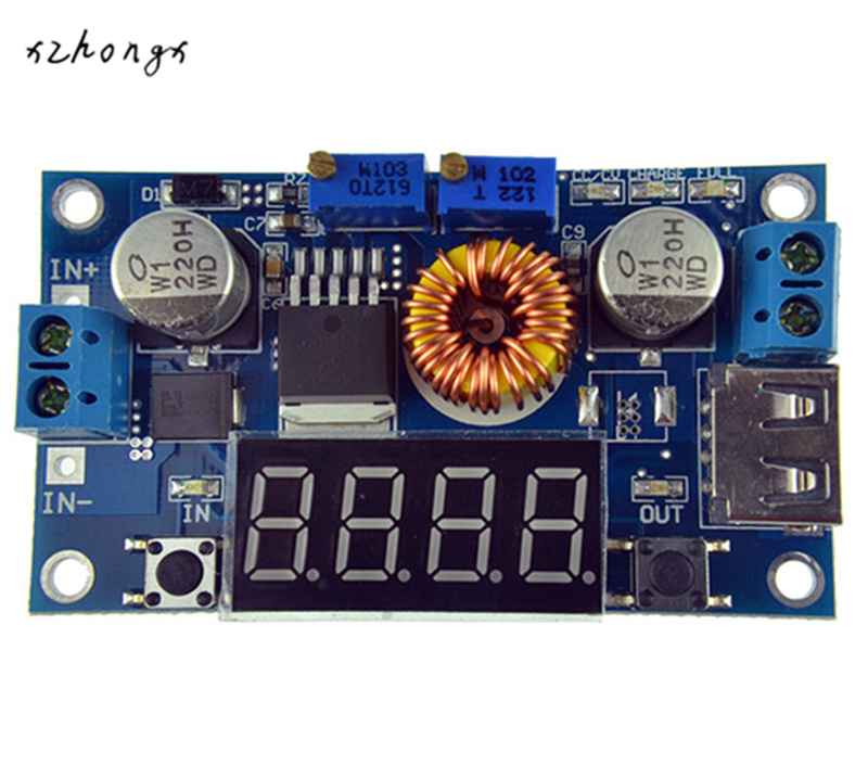XNWY DC-DC 5A LED Drive Lithium Battery Charger Module With Voltmeter Ammeter LED Digit Display