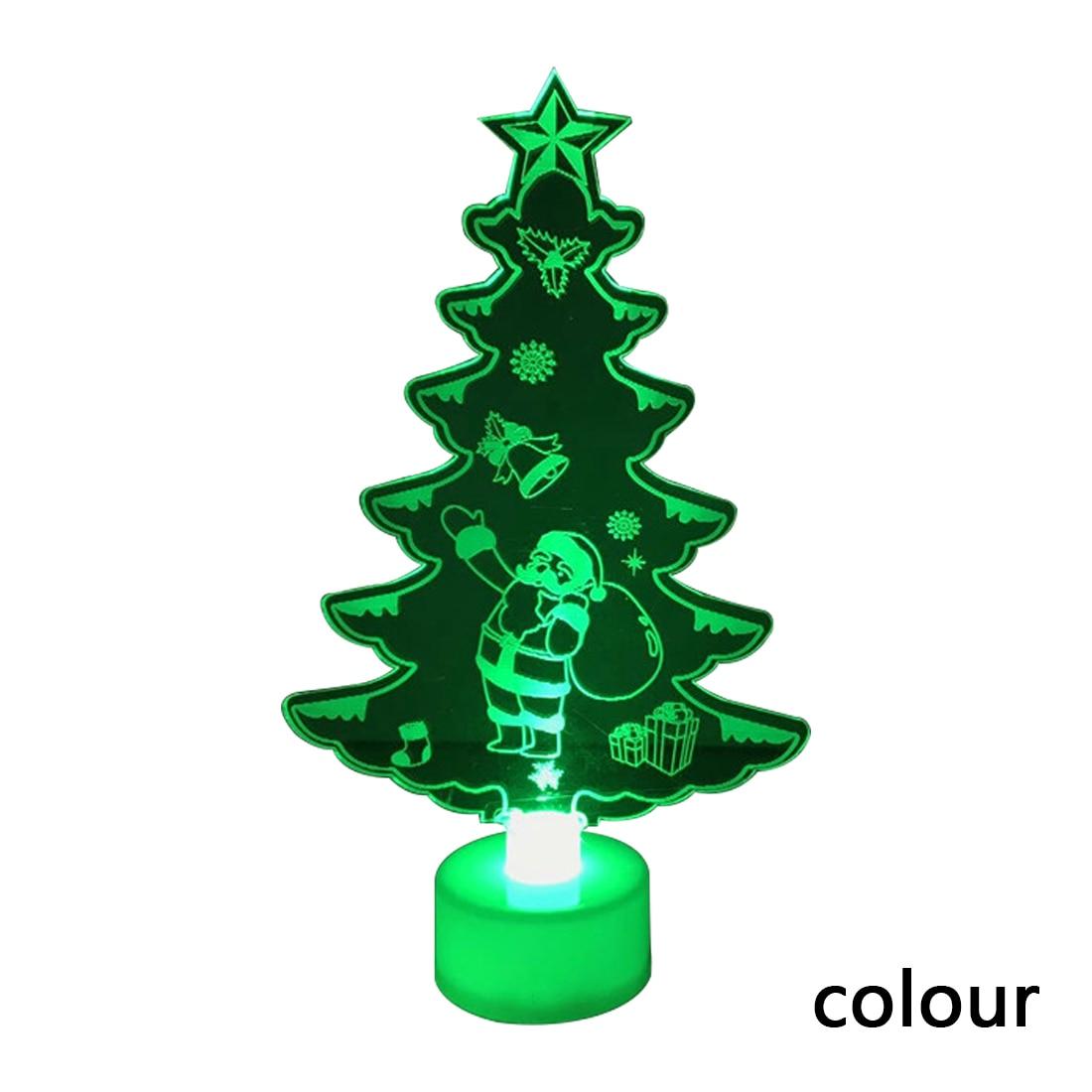 Home 1PC Acrylic LED Mini Christmas Tree Pine Christmas Decoration ...