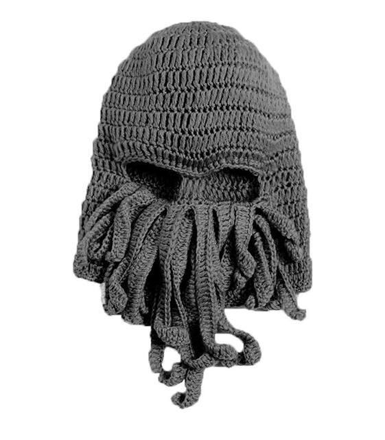 84562ce13c211 Tentacle Octopus Cthulhu Knit Beanie Hat Cap Wind Ski Mask-in ...