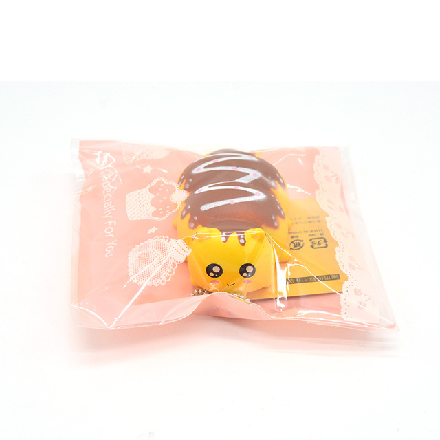 1PCS Caterpillar Squeeze Toy Mobile Phone Strap /Bags Charm Squeeze Toys with Tag