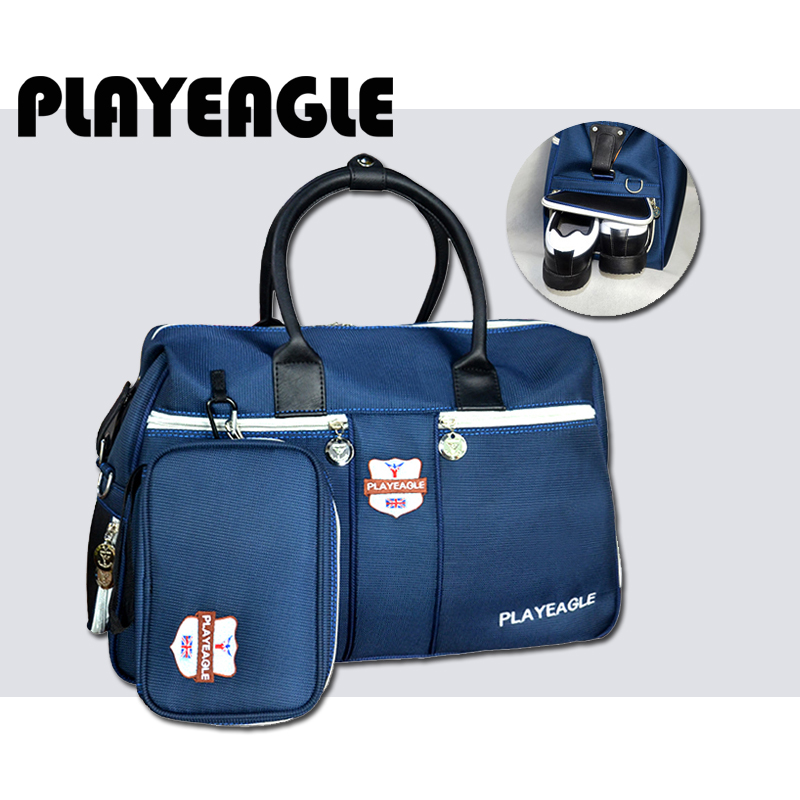 PLAYEAGLE Golf-Boston-Bag Shoes Nylon Travel Outdoor-Sport with Large-Capacity