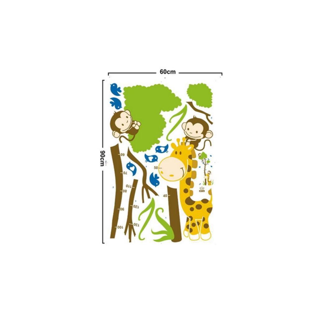 Cartoon animal monkey bird giraffe baby child height measure wall cartoon animal monkey bird giraffe baby child height measure wall stickers for kids room growth chart nursery children gift toy in wall stickers from home nvjuhfo Choice Image