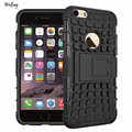 For iphone 6s Case Heavy Duty Armor Shockproof Hard Silicone Rubber Phone Case For Apple iPhone 6 Cover 4.7 inch with Stand *<