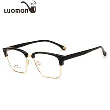 9f7ebd12dca LUOMON Glasses Men Women Reading Eyeglasses Myopia Lens Half Rim Optical  Frame Lentes