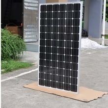 Waterproof Solar Panel 200w 24v 5Pcs Monocrystalline Home System 1000w 1KW Battery Charger Rv Roof Boat Caravan Car