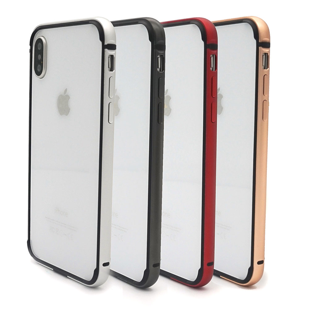 Ascromy For iPhone X Bumper Case Aluminium Metal Frame Silicone TPU Cover Bumper For iPhone XS Max XR 6.1 6.5 Coque Accessories (4)