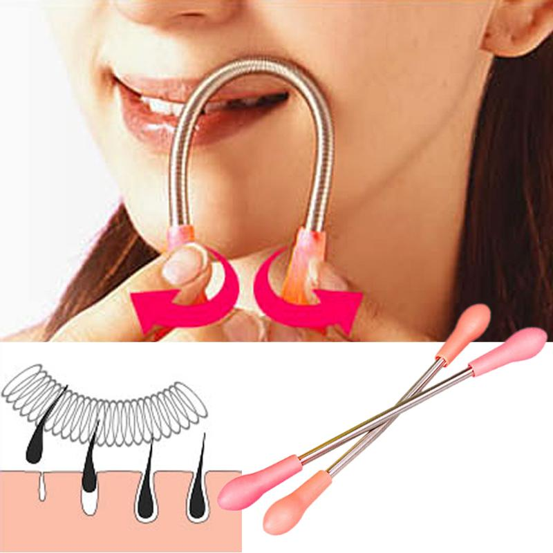 1pc Women Face Removal Facial Hair Free Makeup Epilator Face Facial Hair Remover Spring Threading Tool Stick Removal Thread