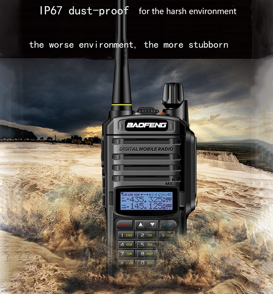 2019 NEW High Power Upgrade Baofeng UV-9R plus Waterproof walkie talkie 10w for two way radio long range 10km 4500mah uv 9r plus Стикер