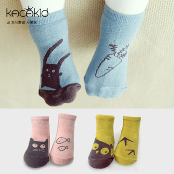 New Arrival Newborn Socks Cartoon 100% Cotton Baby Socks No-slip Infant Cotton Socks 1