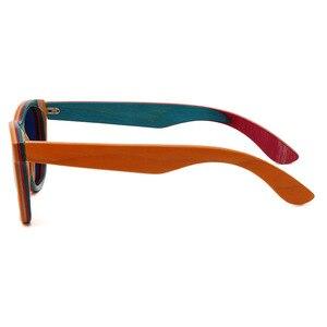 Image 5 - BerWer Del Progettista di Marca Occhiali Da Sole di legno Nuovo Occhiali Da Sole Polarizzati Degli Uomini Delle Donne A Strati di Skateboard di Legno Occhiali Da Sole Retro Vintage Occhiali