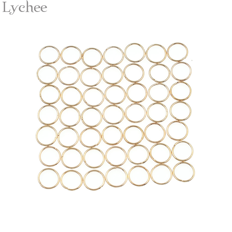 Lychee 50pcs/lot Alloy Punk Hair Braid Dread Dreadlock Circle Cuffs Clips Gold Color Sil ...