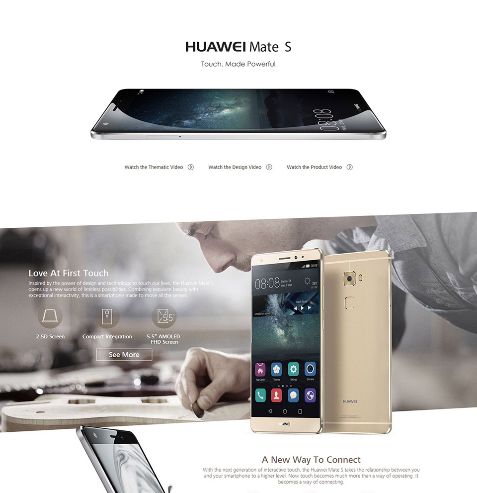 Original huawei mate s 5 5 inch emui 3 1 smart phone hisilicon kirin - 1 1