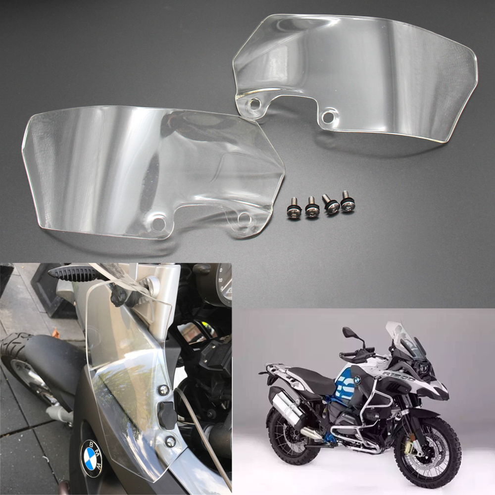 Motorcycle 4.5mm Windshield WindScreen Ventilation plate side panels For BMW R1200GS 2004 2005 2006 2007 2008 2009 2010 2012