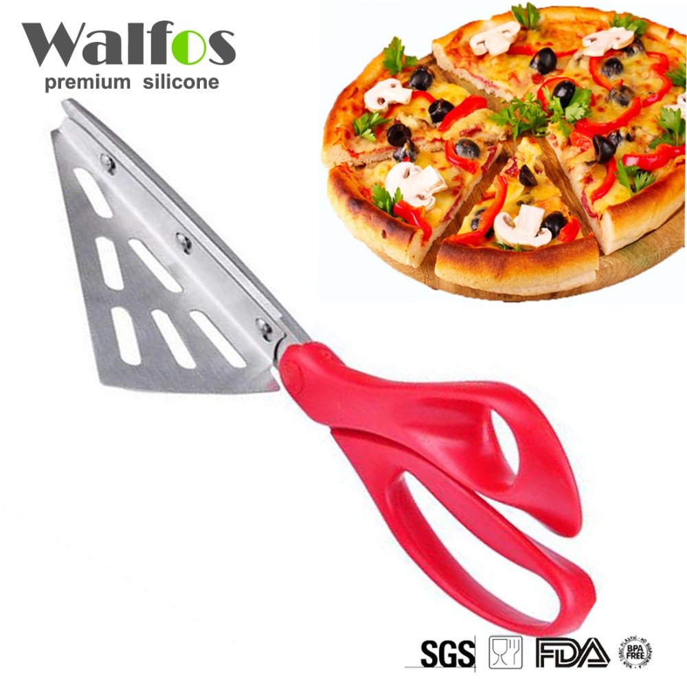 Professional Stainless Steel Pizza Scissors Bread Knife Non-stick Soft Rubber Handle Pizza...