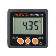 Mini goniomètre électronique 4X90 degrés, rapporteur numérique, inclinomètre, jauge d'angle magnétique intégrée avec rétro-éclairage