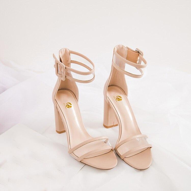 L'intention Us ef1242 Nude Dames 4 8 Noir Mode Ouvert Toe Black Taille Femme 5 Sandales 2018 Ef1242 Chaussures Talons Carrés Femmes Initiale Super aqvwfBar