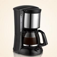 Coffee Machine 4-6 cups Programmable Drip Coffee Maker Machine in Black 600w/ Glass Carafe 0.65L Espresso Machine