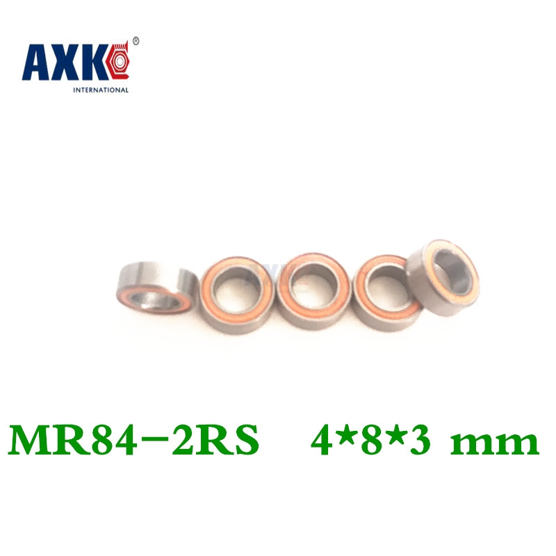 Mr84rs Bearing Abec-7 4*8*3 Mm Miniature Mr84-2rs Ball Bearings Rs Mr84 2rs With Orange Sealed L-840dd 2018 hot sale time limited steel rolamentos 6821 2rs abec 1 105x130x13mm metric thin section bearings 61821 rs 6821rs