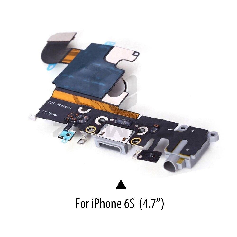 Image 5 - 1 PCS Charging Port Dock USB Connector Flex For iPhone 5 5S 6 6S 7 8 Plus Headphone Audio Jack Microphone Flex cable-in Mobile Phone Flex Cables from Cellphones & Telecommunications