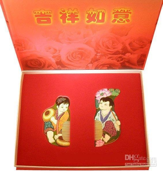 Characteristics gift spun gold wood golden couple wedding gift-j New!Guaranteed 100% Chinese blessing and love big or retail a good gift for weddin new guaranteed 100