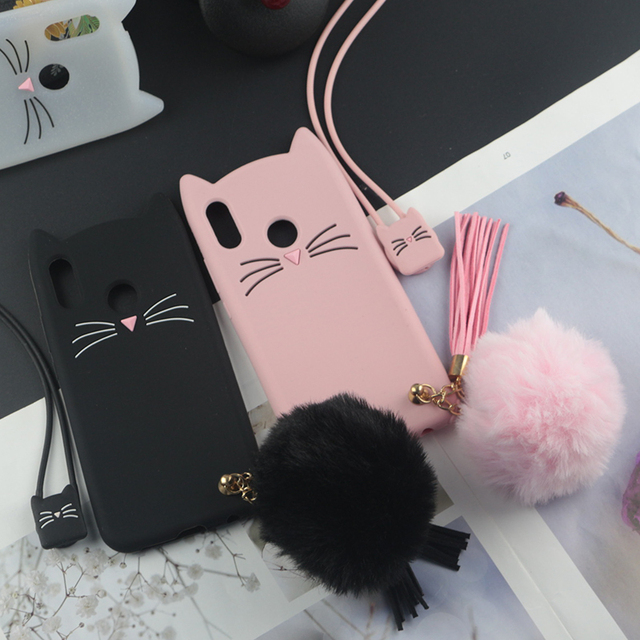 best website 09e6c 89140 US $2.84 5% OFF|Cute 3D Cartoon Silicon Case for Xiaomi Redmi 6 Pro Cases  Japan Glitter Beard Cat Lovely Ears Kitty Phone Cover Redmi 6 6A Plus-in ...