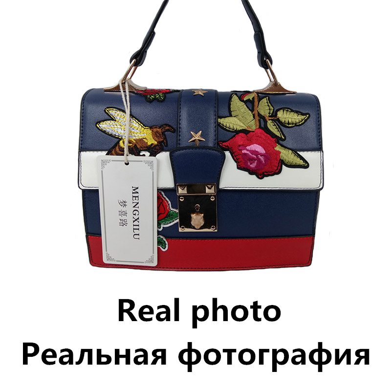 bordado bolsa de ombro bolsa Women Tote Lock Handbag : Embroidery Shoulder Bag