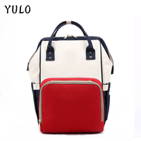 New Upgraded YULO Fashion Mummy Maternity Nappy Bag Large Capacity Baby Bag Travel Backpack Designer Nursing