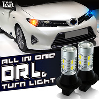 Tcart High Power WY21W T20 7440 Auto LED Bulbs DRL Daytime Running Light Turn Signal Light All In One For Toyota Car Accessories