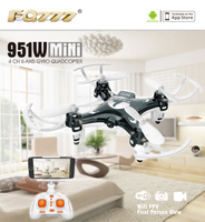 FQ777 951W WIFI Mini Pocket Drone FPV 4CH 6 Axis Gyro Quadcopter With 30W Camera Smartphone