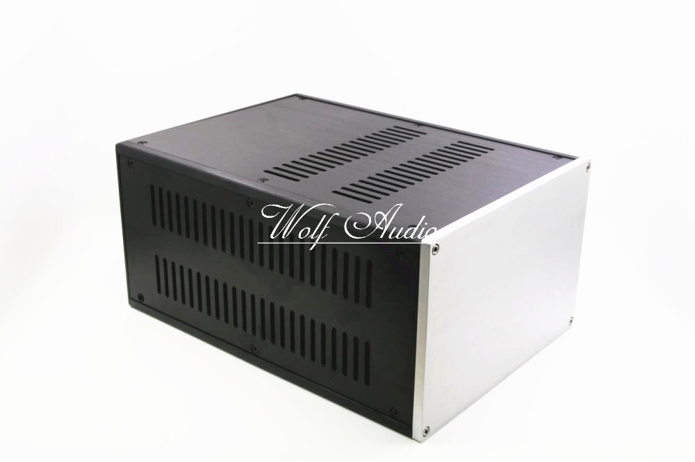 DYT-1 Full Aluminum Enclosure Preamp Case Power Amplifier Chassis DIY PSU Box high quality full aluminum power amplifier enclosure suitable for pga2311 preamp