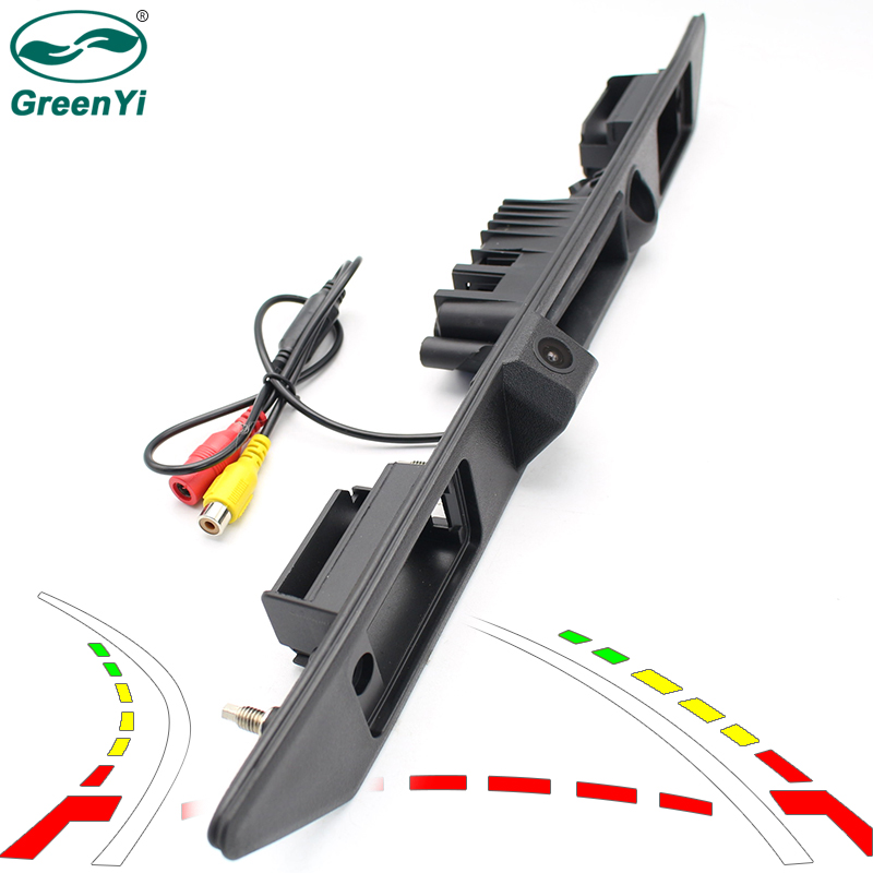 GreenYi Intelligent Car Vehicle Trunk Handle Rear View Backup Camera for Audi A3 A6L A8L A4 A8 Q7 w/ Dynamic Trjectory Guideline