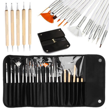 20 pcs Nail Art Design Painting Tool Pen Polish Brush Set UV Nail Gel Polish nail brush Nail Art Rhinestone Pen Beauty Tool