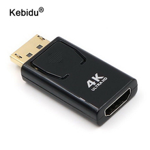 Kebidu Man vrouw Adapters 4K Ultra Hd 1080P 3D Vergulde Display Port Naar Hdmi Converter Dp naar Hdmi Adapter Voor Hdtv Pc