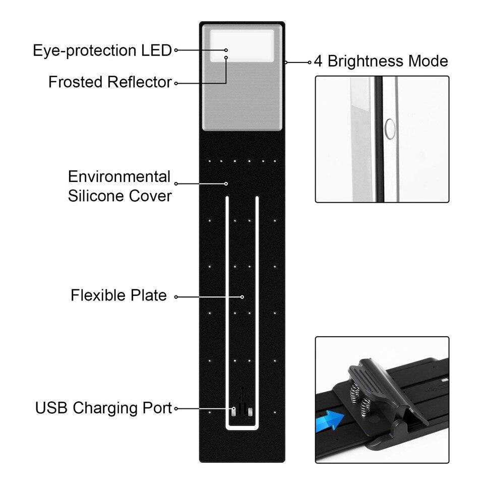 Xsky Rechargeable Lampe De Lecture Flexible Led Lumiere Clip Sur