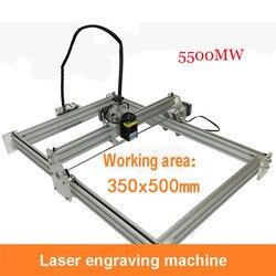 DIY Mini maszyny laserowe 5500mw wielkoformatowa 350mm * 500mm Wate laserowa maszyna grawerująca