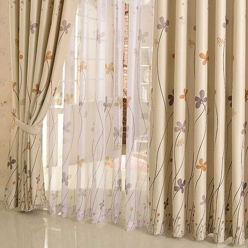 Rustic Clover Dandelion Design Curtains For living Room / Bedroom Blackout  Curtains Window Treatment /drapes Home Decor P206X
