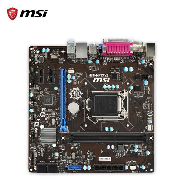 MSI H81M-P33 V2 Descargar Controlador