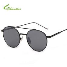 2017 NEW Glass Lens Men Sunglasses Brand Name Poilt Classic Feminin Women Metal Sun Glasses Vintage oculos de sol feminino