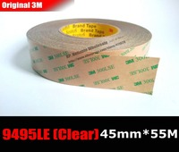 1x 45mm 55M 3M 9495LE 300LSE Super Strong Sticky 2 Sides Adhesive PET Tape For Mobilephone