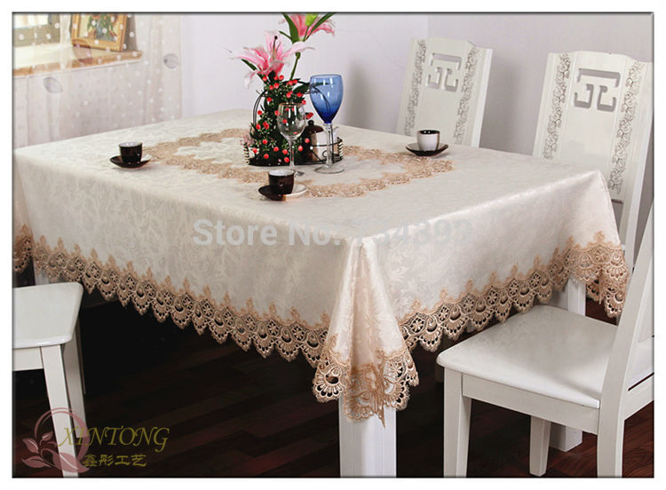 europ enne de luxe nappe tissu dentelle nappe chemin de table table basse tissu rectangle carr. Black Bedroom Furniture Sets. Home Design Ideas
