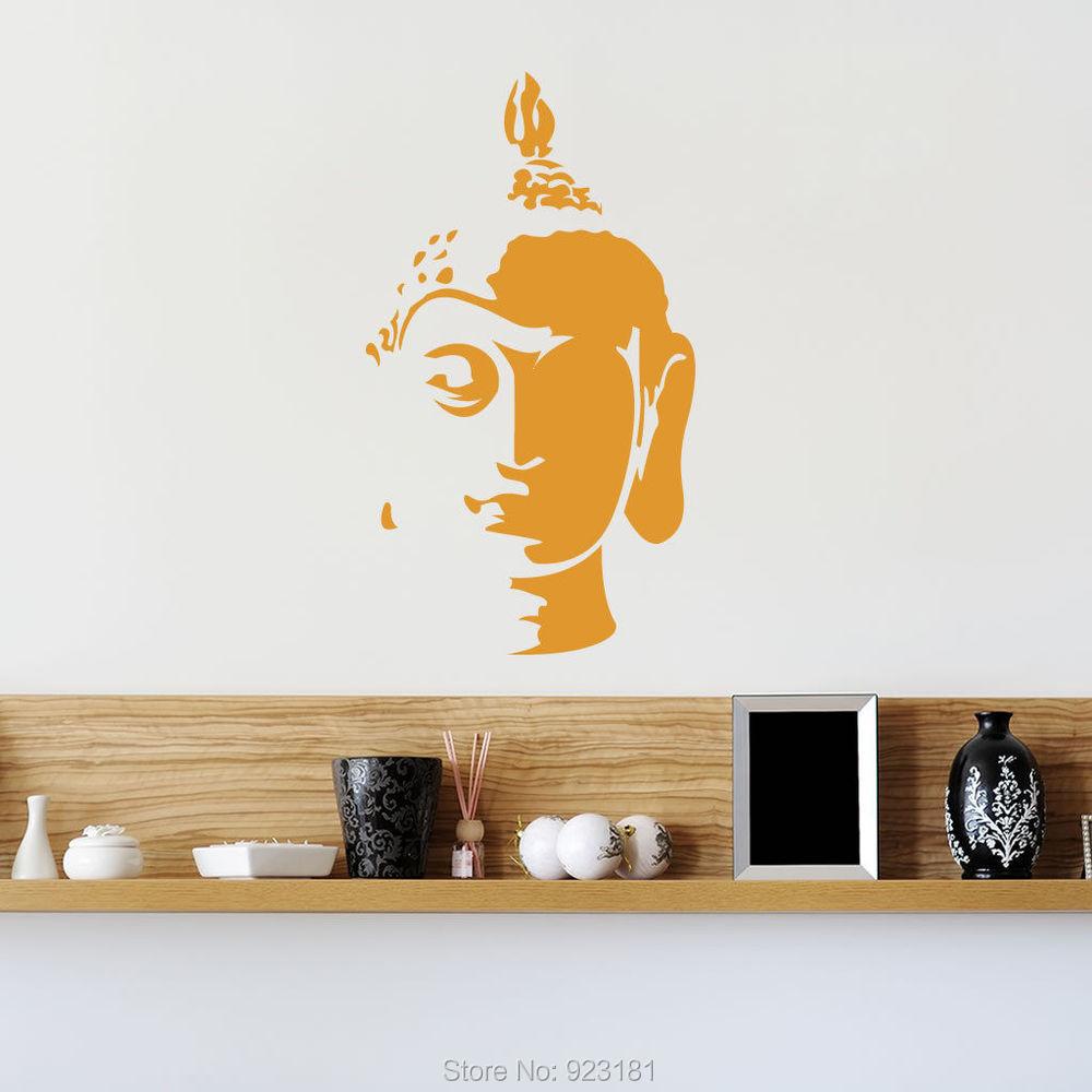 Buddha Head Decor Aliexpresscom Buy Mad World Buddha Head Silhouette Wall Art